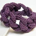 PURPLE - cotton yarn chain bracelet..